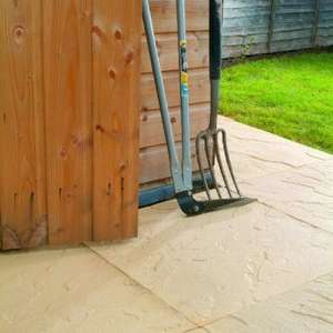 64 x 450x450x32mm Buff Riven Paving Slabs for £64 with free delivery @ Clearance Paving