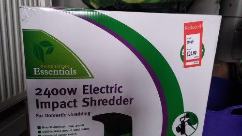 Impact Garden shredder @ Aldi £24.99