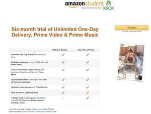Amazon Student (Prime) free for 6 months then 50% discount
