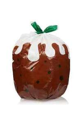 Christmas Pudding bin bags x 10 99p @ Home Bargains