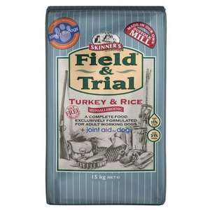 Skinners Field and Trial Turkey Rice and Joint Aid 15kg Dog Food £29.99 Less 15% off First Orders at Fetch