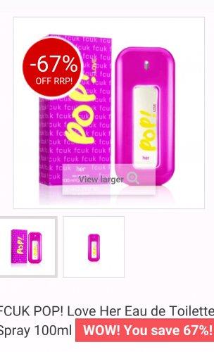 fcuk perfume 100ml £11.99 @ Half Price Perfumes
