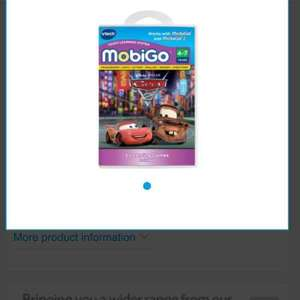 VTech MobiGo Game Disney Pixar Cars 2 was £18 now £1 + £3 del (£4) @ tesco direct / sold by The Entertainer