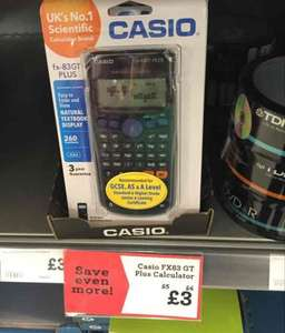 Casio FX83-GT Plus Calculator - £3 @ Morrisons