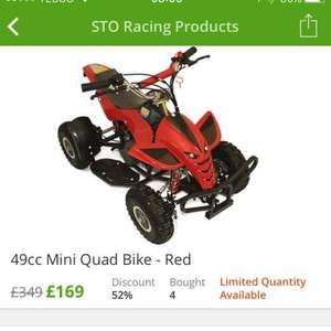 49cc Mini Off-Road Petrol Quad Bike @ Groupon