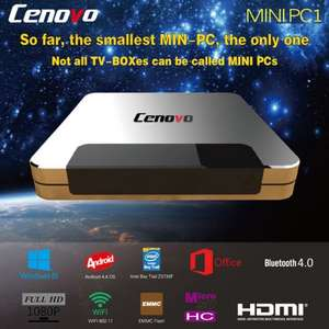 Cenovo Mini PC TV Box 64 Bit Quad Core Intel Z3735F Bluetooth 4.0 Windows 8.1 Android 4.4 2GB RAM 32GB ROM £53 (EU Warehouse)