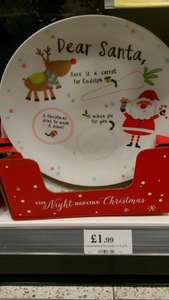 Christmas eve Santa and Reindeer treat plate £1.99 at Home Bargains