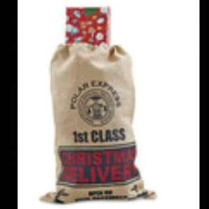 Jute Christmas sacks £3.99 each at Aldi (From today)