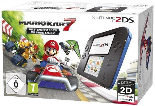 Nintendo 2DS Black & Blue + Mario Kart 7  £69.57 amazon.fr