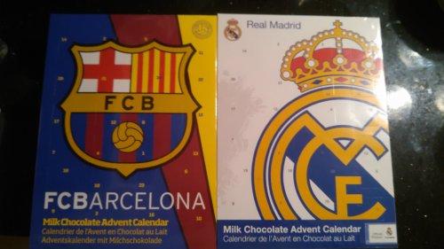 Barcelona/Real Madrid Chocolate Advent Calendars @ Poundland
