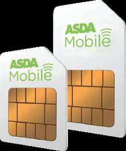 Order a Sim and top up £5 @ Asda Mobile & Get 12GB Data FREE + 100 Mins + 2000 Texts