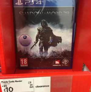 Middle Earth: Shadow Of Mordor (PS4) £10 at Asda