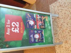 Bargain 2 for £2 @ morrisons Cadburys/nestle selection boxes and advent calendars