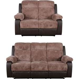 Bradley Recliner Large and Regular Sofa - Natural. Ends today Hurry £453.10 @ Homebase