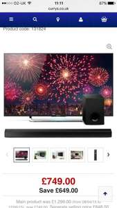 Sony Bravia 49inch 4K Smart LED TV with free sound bar and 5 year guarantee - £749 @ Currys