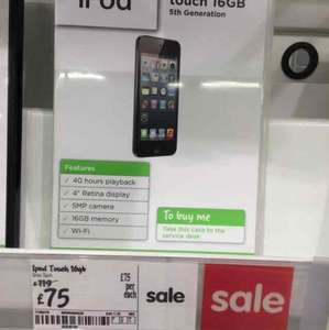 iPod Touch 16gb £75 @ Asda instore