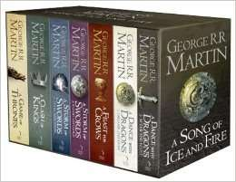 A Song Of Ice And Fire - Game Of Thrones - 7 Book Box Set With Westeros And Free Cities Poster Map £29.99 or £24.32 with TCB@ The Works