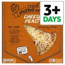 Tesco Takeaway Pizza 390G six flavours to chose including the Stuffed Crust Chesse Half Price £1.87 @ tesco