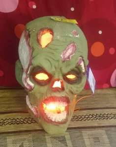 Giant light up zombie head Was £15 now £3.75 tesco