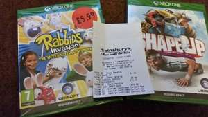 Xbox one kinect shape up game (£3.99) and Rabbids Invasion only £5.99 @ instore sainsbury's