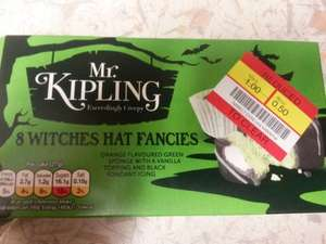 Mr kipling halloween themed french fancies reduced in co-op from £1 to 50p for 8.