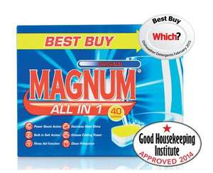Magnum 70 All In One Dishwasher tablets £5.49 @ Aldi