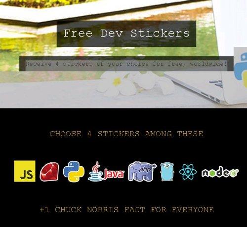 Get Free 4 Dev Stickers @ Notifuse