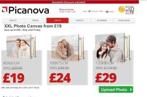 Decent size (XXL) photo canvas' for £29 @ Picnova