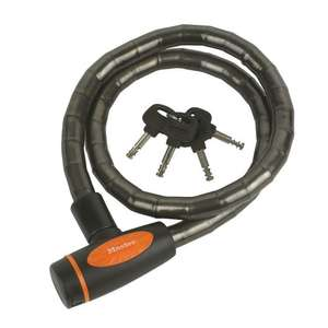 Master Lock Braided Steel Armoured Cable, 4 Keys, £3.99 collected at Screwfix.