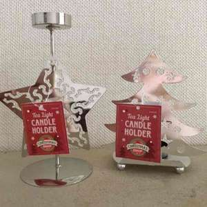 Tea light Candle Holders for Xmas £1 at PoundWorld