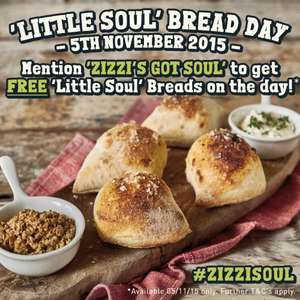 Free dough balls tomorrow (eat-in or takeaway) @ Zizzi