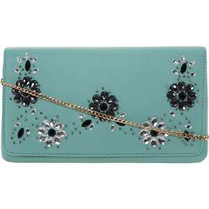Dune Mint Green Jewel Embellished Clutch Bag £16.00 TK Maxx Delivery £3.99