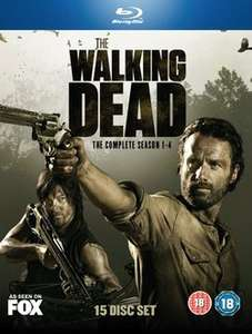 The Walking Dead Seasons 1 - 4 (15 Disc Blu-ray) £21.24 with code (+£6 of points) @ rakuten/ The Entertainment store