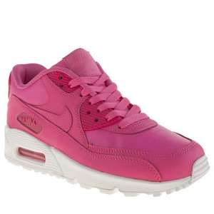 Girls/Womens Nike Air Max 90 Pink Leather Trainers @ Schuh HALF PRICE @ £29.99 FREE DELIVERY