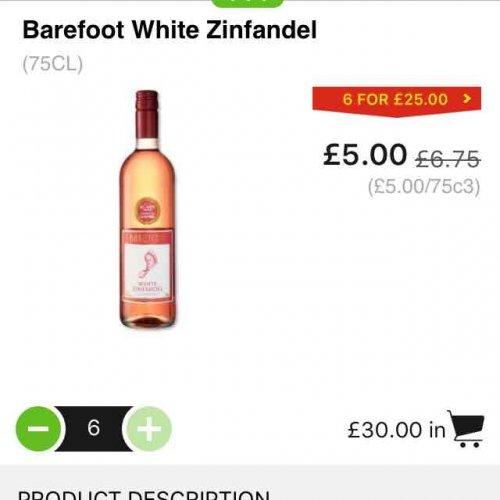 Barefoot wine - £5 @ ASDA