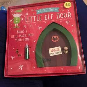 Little Elf Door - £1.99 instore @ Card Factory