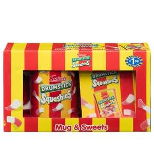 Drumstick Squashies Mug & Sweets Gift Set & Various others (3D Haribo Penguin,Rainbow Drops,Parma Violets Etc) £1.99 @ B&M