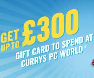 Up to £300 Currys/PC World gift card via Carphone Warehouse (Upgrades and New connections)