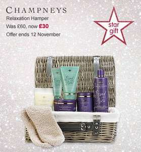 Boots star gift. Champneys relaxation hamper £30 was £60