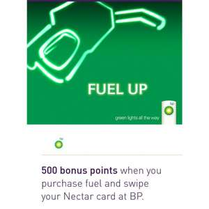 500 nectar points when you fill up at BP
