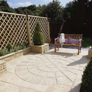 64x Weatherd Apricot Riven paving slabs for £64.00 @ Clearance Paving