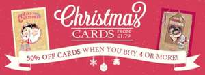 funkypigeon.com 50% off when you buy 4 or more cards for any occasion & free delivery