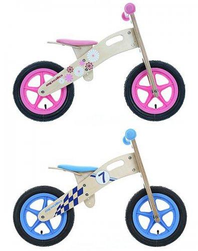 Apollo Wooden Balance Bike - Pink or Blue - £34.99 Free C&C Halfords