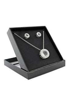 Silver Tone Crystal Pendant and Earring Set now £10.00 from £20.00 @ Very