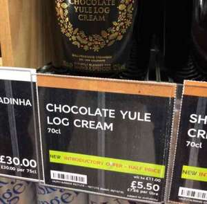 M&S Chocolate Yule Log Cream 70cl £5.50