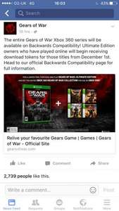 Free Gears of War token backward compatibility (All GoW games)