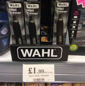 Wahl Nasal, Ear, Nose, Eyebrow Trimmer £1.99 Home Bargains
