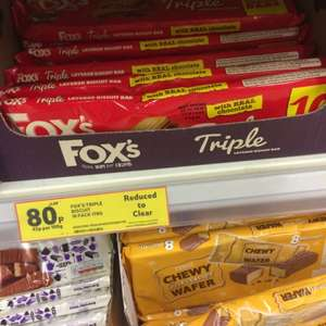 Fox's triple bars 80p @ Tesco