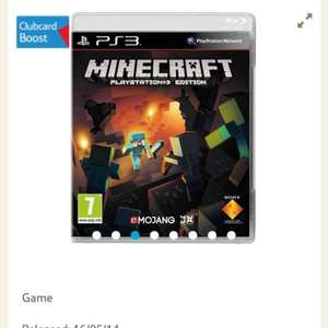 Minecraft on PS3 - £13 at tesco (club card boost too)