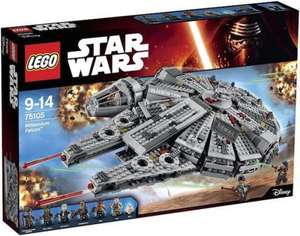 LEGO Star Wars Millennium Falcon 75105 + Lego Simpsons Series 2 Minifigure + Free Bricktober Building (Worth £14.99) + £15 TRU Gift voucher £102.48 @ Toys R Us